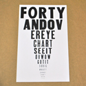 Forty and Over Eye Chart Poster, POSTERYDFORTY
