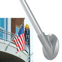 Aluminum Anodized 45° Angle Estate Outrigger Flagpoles