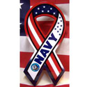 Red, White & Blue Navy Ribbon Sign