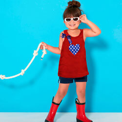 4th of July Girls Tank Top, FBPP0000013479