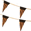Patriotic Triangle String Pennant Garland, RRT8112