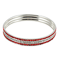 Red and White Sparkle Bracelet, RSCRBBC