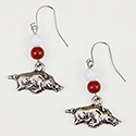 Razorback Charm Earrings, RSCRBE1