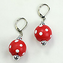 Red and White Polka Dot Earrings, RSCRBE6