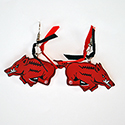 Arkansas Razorbacks Gameday Earrings, RSCRBER