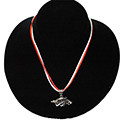 Arkansas Razorback Silk Cord Pendant Necklace, RSCRBNL2