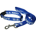 Navy Dog Collar and Leash Set, RUFFDOGNAVY