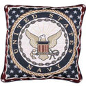 Navy Tapestry Accent Pillow, SIHO3147