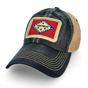 Arkansas Flag Patch Trucker Hat, SLR1600TBK