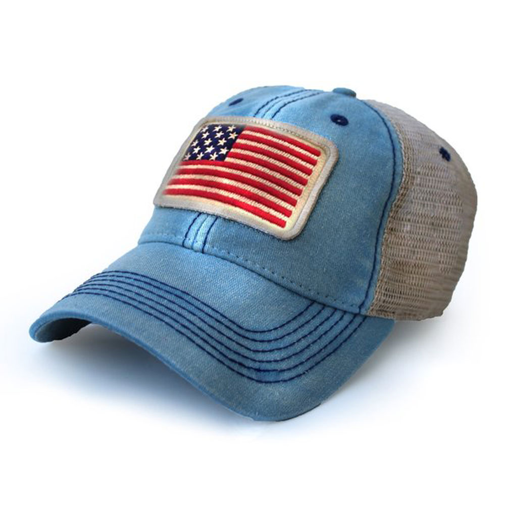 1812 Usa Flag Patch Trucker Hat One Size