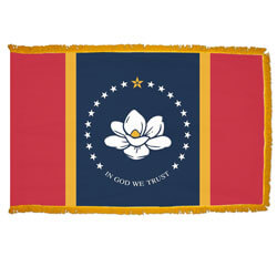 Mississippi Fringed Flag with Pole Hem, FBPP0000011027