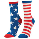 Patriotic USA Flag Socks