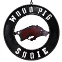 Wooo Pig Sooie Wrought Iron Sign, STARARK12