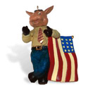 Democrat Donkey Christmas Ornament, TJC941343D