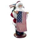 USA Santa with Flag