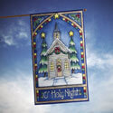 Christmas Church House Banner, TOL101240H