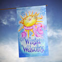 Winter Welcome House Banner, TOL102539H