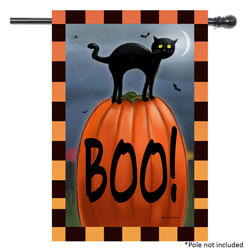 Boo Cat House Double Sided Banner, TOL109691H