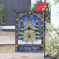 Christmas Church Garden Banner, TOL111240G