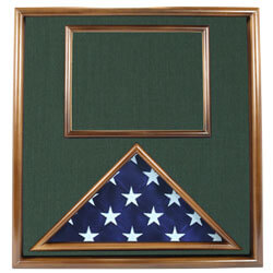 Walnut Folded Ceremonial Flag & Document Case, FBPP0000010451