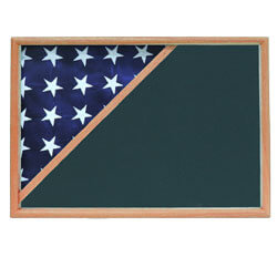 Oak Folded Corner Casket Flag Case, FBPP0000010452