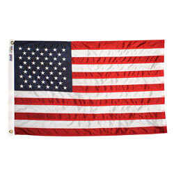 American Flag with Embroidered Stars & Sewn Stripes, US23