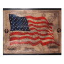 American Flag History Wall Hanging, WILC4949