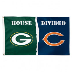Chicago Bears and Green Bay Packers House Divided Flag, WINC04107115