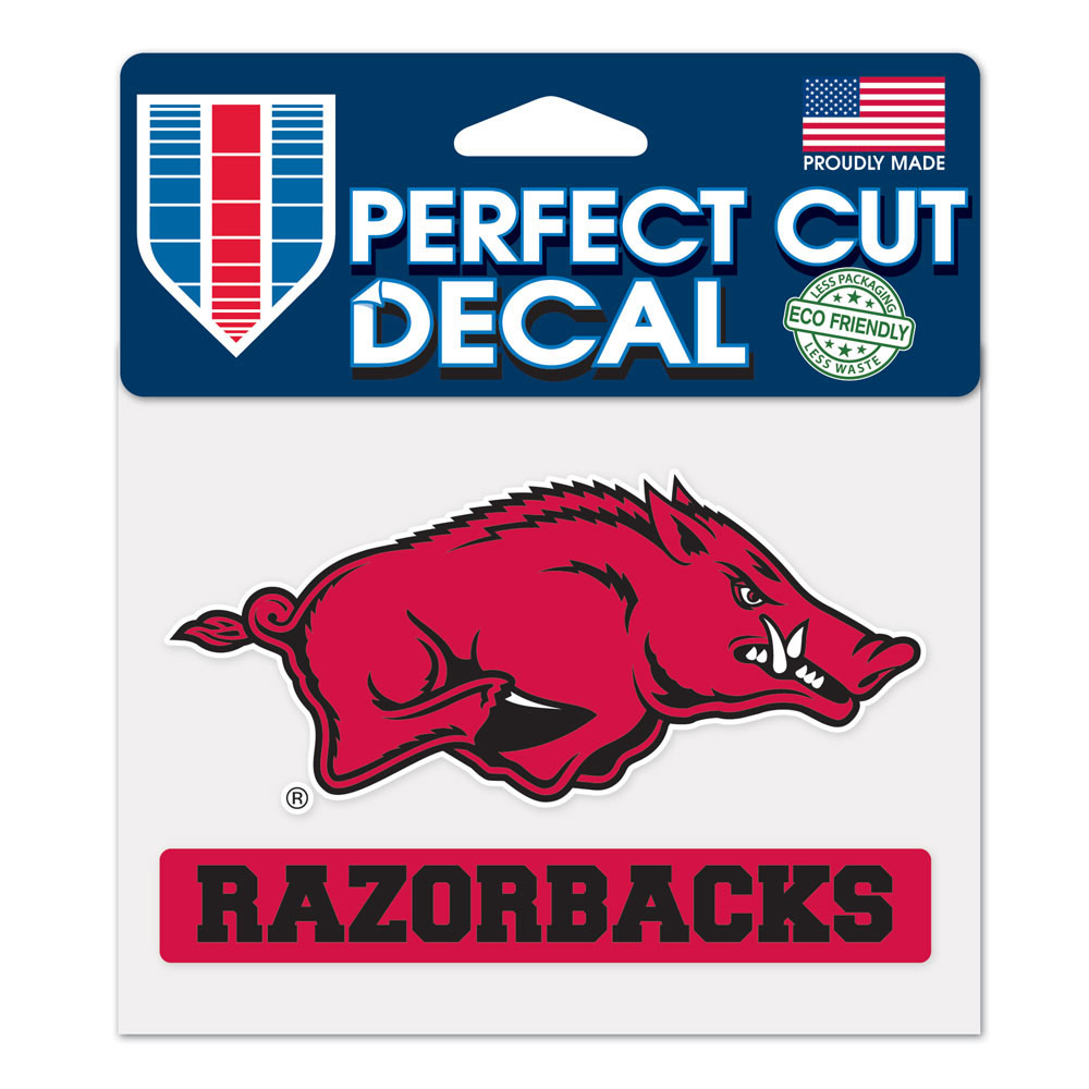Arkansas Razorbacks Perfect Cut Decal, WINC38434014