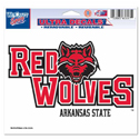 Red Wolves Ultra-cling Decal, WINC84110012