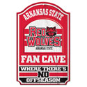 Arkansas State Fan Cave Wood Sign, WINC84432012