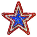 Partriotic Star Tinsel Wreath