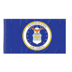 Air Force Flag with Pole Hem, FBPP0000009238