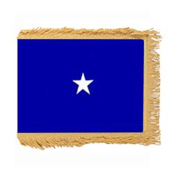 Air Force Brigadier General flag with Pole Hem and Fringe, AAIRFSTAR135PHF