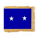 Air Force Major General flag with Pole Hem and Fringe, AAIRFSTAR246PHF