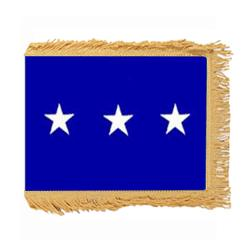 Air Force LT. General Flag with Pole Hem and Fringe, AAIRFSTAR323PHF