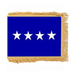 Air Force General Flag with Pole Hem and Fringe, AAIRFSTAR435PHF