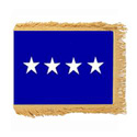 Air Force General Flag with Pole Hem and Fringe, AAIRFSTAR446PHF