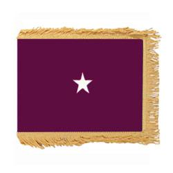 Army Medical Brigadier General Flag with Pole Hem and Fringe, AARMSTAR158PHF
