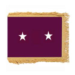 Army Medical Major General Flag with Pole Hem and Fringe, AARMSTAR223PHF