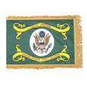 Army Retired Fringed Flag with Pole Hem, AARMY34PHF