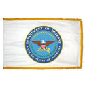 Department of Defense Fringed Flag with Pole Hem, ADOD35PHF