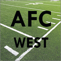 AFC West Teams (Denver Broncos, Kansas City Chiefs, Oakland Raiders, Los Angeles Chargers)