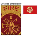 Fire Department All Sewn Flag