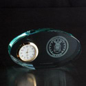 Air Force Oval Glass Clock, AGL7046AF