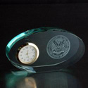 Army Oval Glass Clock, AGL7046ARM