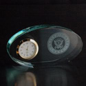 Navy Oval Glass Clock, AGL7046NAV