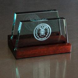 Air Force Glass Business Card Holder, AGL8041AF