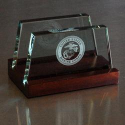 Marine Glass Business Card Holder, AGL8041MAR