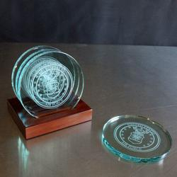 Air Force Glass Round Coaster Set, AGL8070AF